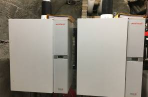 Rehabilitation d'une chaufferie d'un lycée par cascade de chaudière gaz a condensation avec armoire de commande de régulation sur GTB.